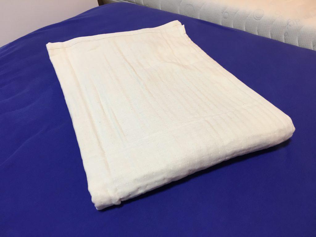 オーガニックコットン4層織りガーゼ敷きパッド