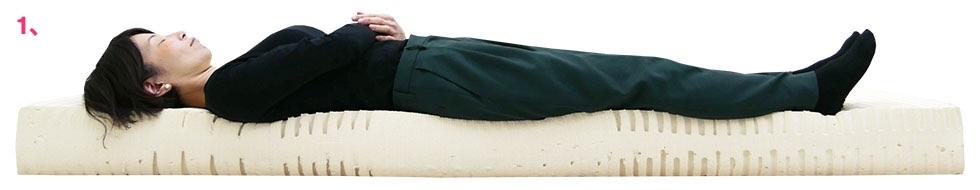 7zone18cmマット ミディアム 女性寝姿勢図