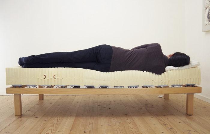 横向き寝時の女性寝姿勢図