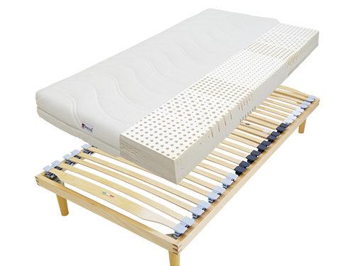 ウッドスプリングベッドとラテックスマット