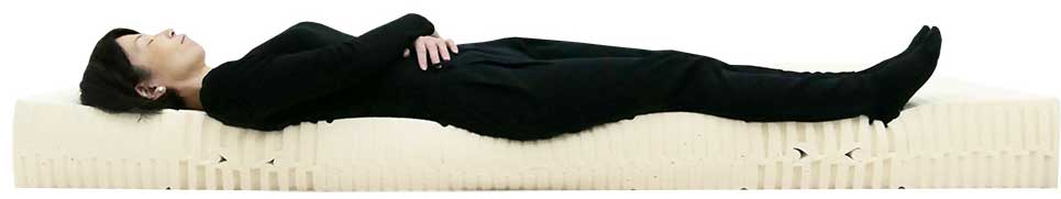 7zone20cmマット ミディアム 女性寝姿勢図