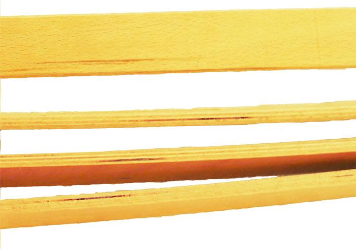 積層部分に現われた導管